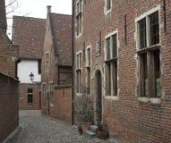 Middeleeuwse straat (Leuven, België) stock fotografie