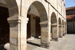 Middeleeuwse straat van Santiago DE Compostela Stock Fotografie