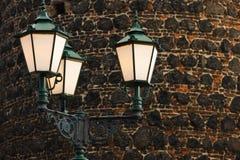 Middeleeuwse Straatlantaarns royalty-vrije stock foto's