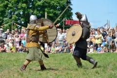 Middeleeuwse strijden Stock Afbeelding