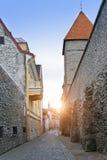 Middeleeuwse toren, een deel van de stadsmuur, Tallinn, Estland royalty-vrije stock afbeeldingen