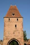 Middeleeuwse toren in het schilderachtige dorp van Rosheim royalty-vrije stock foto