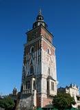 Middeleeuwse toren in Krakau stock foto's