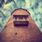 Middeleeuwse toren van het Turaida-kasteel Sigul stock foto