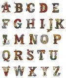 Middeleeuwse verlichte brieven Stock Foto
