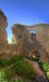 Middeleeuwse vesting stock afbeeldingen