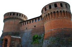 Middeleeuwse vesting in Dozza Imolese, dichtbij Bologna, Italië royalty-vrije stock afbeelding