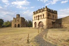 Middeleeuwse vesting in Gondar, Ethiopië, Unesco-de plaats van de Werelderfenis stock fotografie