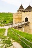 Middeleeuwse Vesting Khotyn stock fotografie