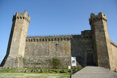 Middeleeuwse vesting in Montalcino (Italië) royalty-vrije stock foto