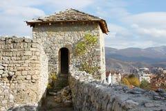 Middeleeuwse vestingstoren Stock Foto's