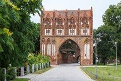 Middeleeuwse vestingwerken in Neubrandenburg Royalty-vrije Stock Foto's
