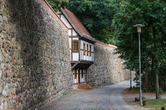Middeleeuwse vestingwerken in Neubrandenburg Royalty-vrije Stock Fotografie