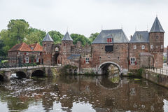 Middeleeuwse vestingwerken van Amersfoort royalty-vrije stock foto