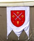 Middeleeuwse vlag stock afbeelding