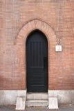 Middeleeuwse voordeur Stock Foto