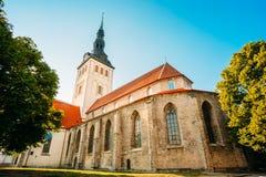Middeleeuwse Vroegere St Nicholas Church In Tallinn, Estland Royalty-vrije Stock Fotografie
