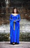 Middeleeuwse vrouw Stock Foto