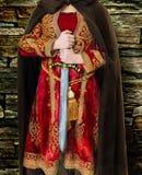 Middeleeuwse Vrouwelijke Strijder Royalty-vrije Stock Foto's