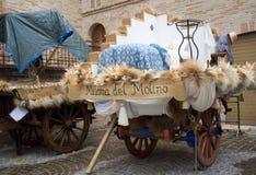 Middeleeuwse wagens Royalty-vrije Stock Afbeeldingen