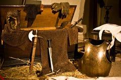Middeleeuwse wapens Stock Afbeeldingen