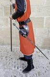 Middeleeuwse zwaardvechter Royalty-vrije Stock Afbeeldingen