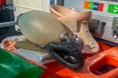 Middelen het medische hulp kunstmatige close-up van het ademhalingsmasker royalty-vrije stock afbeelding