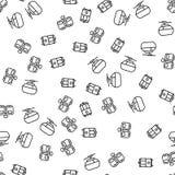 Middelen van Vector van het Spoorwegvervoer de Naadloze Patroon vector illustratie