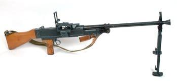 Middelgroot machinegeweer op bipod Royalty-vrije Stock Foto