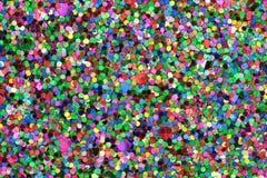 Middelgrote Blauw/Groen/Rood/het Roze/Geel schittert Stock Foto