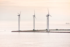 Middelgrunden - offshore wind farm near Copenhagen Stock Photo