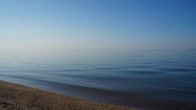 Middellandse Strand en Zee royalty-vrije stock foto