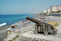 Middellandse Zee in Nerja, Spanje Stock Afbeelding