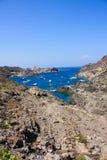 Middellandse-Zeegebied. Boten in GLB DE Creus, Costa Brava Royalty-vrije Stock Foto