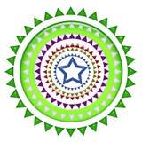 Midden blauw sterontwerp Stock Afbeelding