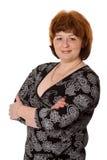 Midden leeftijdsvrouw Stock Foto's