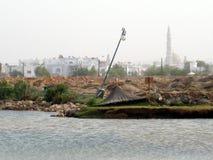 Midden-Oosten, Oman, schilderachtige mening over het landschapsfotografie van Muscateldruifoman stock foto