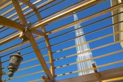 Midden-Oosten, Verenigde Arabische Emiraten, Doubai, Burj Khalifa Stock Afbeeldingen