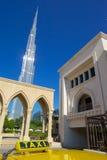 Midden-Oosten, Verenigde Arabische Emiraten, Doubai, Burj Khalifa & Taxi Royalty-vrije Stock Foto's