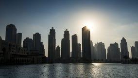 Midden-Oosten, Verenigde Arabische Emiraten, Doubai, Van de binnenstad, Burj Khalifa Fountain Lake royalty-vrije stock afbeeldingen