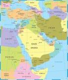 Midden-Oostenkaart - Vectorillustratie stock illustratie