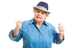 Midden Oude Vrouw - Frustratie Royalty-vrije Stock Foto