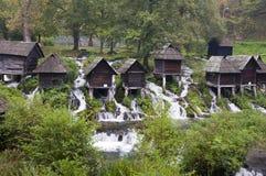 Middenleeftijd watermills Royalty-vrije Stock Afbeeldingen