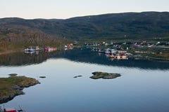 Middernacht in Noorwegen Stock Afbeelding