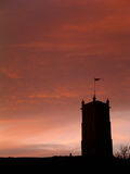 middeval solnedgång Arkivbilder