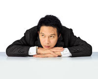 Middle age Asian business man with trouble Stock Image