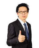 Middle age Asian business man on white Royalty Free Stock Photo