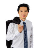 Middle age Asian business man on white Royalty Free Stock Photos