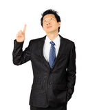 Middle age Asian business man on white Stock Photography