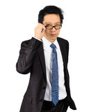 Middle age Asian business man on white Royalty Free Stock Image